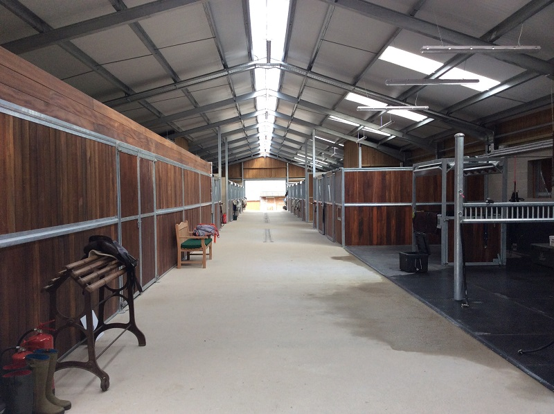 equine construction interior
